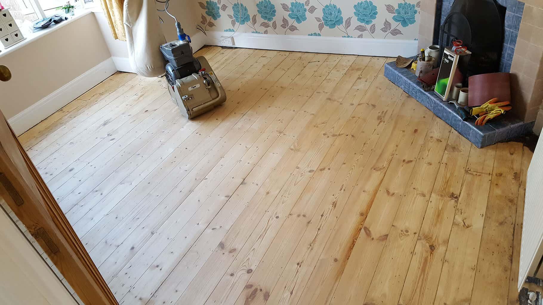 houten vloer opschuren