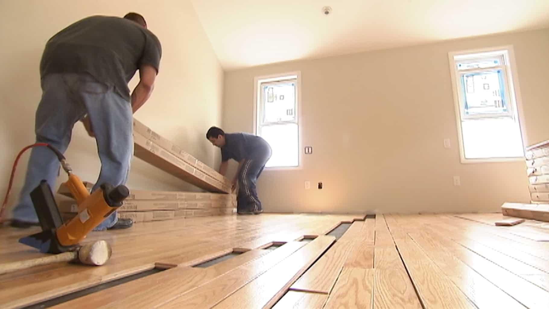 houten vloer leggen